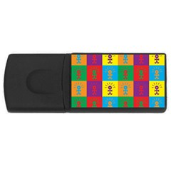 Multi Coloured Lots Of Angry Babies Icon USB Flash Drive Rectangular (2 GB)  by thisisnotme