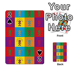 Multi Coloured Lots Of Angry Babies Icon Playing Cards 54 Designs