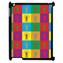Multi Coloured Lots Of Angry Babies Icon Apple iPad 2 Case (Black) by thisisnotme
