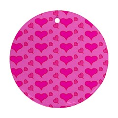 Hearts Pink Ornament (round)