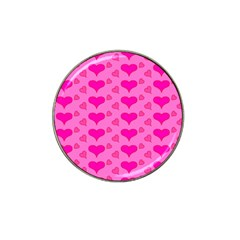 Hearts Pink Hat Clip Ball Marker by MoreColorsinLife