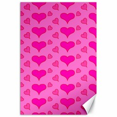 Hearts Pink Canvas 20  X 30   by MoreColorsinLife