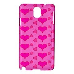 Hearts Pink Samsung Galaxy Note 3 N9005 Hardshell Case by MoreColorsinLife