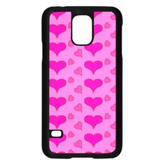 Hearts Pink Samsung Galaxy S5 Case (black) by MoreColorsinLife