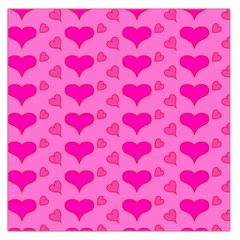 Hearts Pink Large Satin Scarf (Square) by MoreColorsinLife