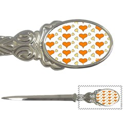 Hearts Orange Letter Openers by MoreColorsinLife