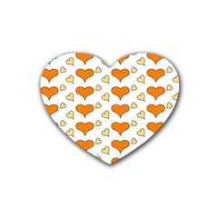 Hearts Orange Heart Coaster (4 Pack)  by MoreColorsinLife
