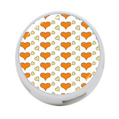 Hearts Orange 4 Port Usb Hub (one Side) by MoreColorsinLife