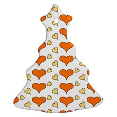 Hearts Orange Ornament (christmas Tree) by MoreColorsinLife