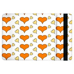 Hearts Orange Ipad Air Flip by MoreColorsinLife