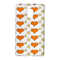 Hearts Orange Galaxy Note Edge by MoreColorsinLife