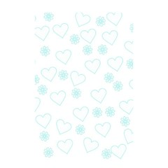 Flowers And Hearts Shower Curtain 48  x 72  (Small)  by MoreColorsinLife