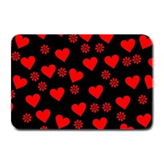 Flowers And Hearts Plate Mats by MoreColorsinLife