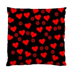 Flowers And Hearts Standard Cushion Case (one Side)  by MoreColorsinLife