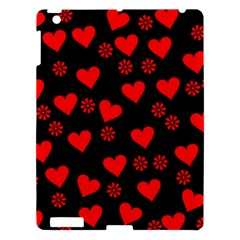 Flowers And Hearts Apple Ipad 3/4 Hardshell Case by MoreColorsinLife