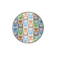 Hearts Plaid Hat Clip Ball Marker (4 pack) by MoreColorsinLife