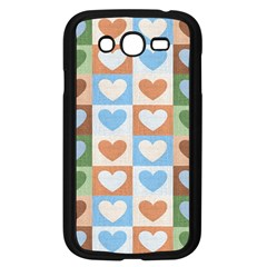 Hearts Plaid Samsung Galaxy Grand DUOS I9082 Case (Black) by MoreColorsinLife