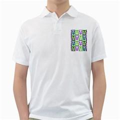 Hearts Plaid Purple Golf Shirts by MoreColorsinLife