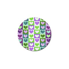 Hearts Plaid Purple Golf Ball Marker (4 Pack) by MoreColorsinLife