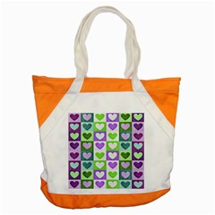 Hearts Plaid Purple Accent Tote Bag  by MoreColorsinLife