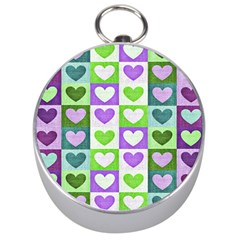 Hearts Plaid Purple Silver Compasses by MoreColorsinLife