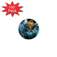 Funny Dolphin In The Universe 1  Mini Magnets (100 Pack)