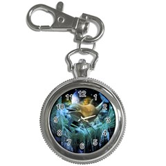 Funny Dolphin In The Universe Key Chain Watches