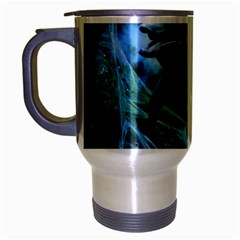 Funny Dolphin In The Universe Travel Mug (silver Gray)