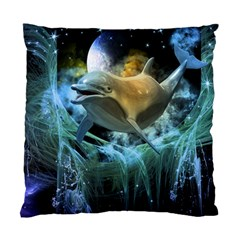 Funny Dolphin In The Universe Standard Cushion Cases (two Sides)