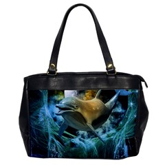 Funny Dolphin In The Universe Office Handbags