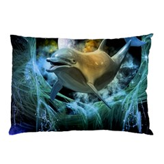 Funny Dolphin In The Universe Pillow Cases (two Sides)
