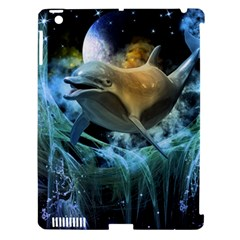 Funny Dolphin In The Universe Apple Ipad 3/4 Hardshell Case (compatible With Smart Cover) by FantasyWorld7