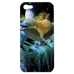 Funny Dolphin In The Universe Apple Iphone 5 Hardshell Case