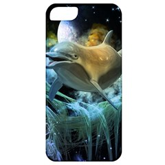 Funny Dolphin In The Universe Apple Iphone 5 Classic Hardshell Case
