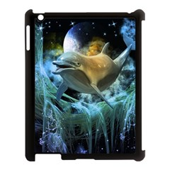 Funny Dolphin In The Universe Apple Ipad 3/4 Case (black)