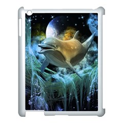 Funny Dolphin In The Universe Apple Ipad 3/4 Case (white)