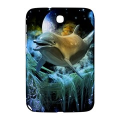 Funny Dolphin In The Universe Samsung Galaxy Note 8 0 N5100 Hardshell Case