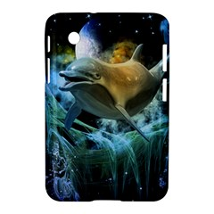 Funny Dolphin In The Universe Samsung Galaxy Tab 2 (7 ) P3100 Hardshell Case