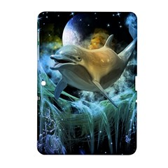 Funny Dolphin In The Universe Samsung Galaxy Tab 2 (10 1 ) P5100 Hardshell Case