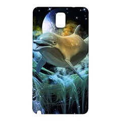 Funny Dolphin In The Universe Samsung Galaxy Note 3 N9005 Hardshell Back Case