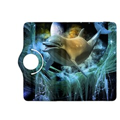 Funny Dolphin In The Universe Kindle Fire Hdx 8 9  Flip 360 Case