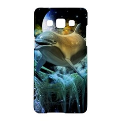 Funny Dolphin In The Universe Samsung Galaxy A5 Hardshell Case  by FantasyWorld7