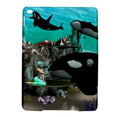 Cute Mermaid Playing With Orca Ipad Air 2 Hardshell Cases