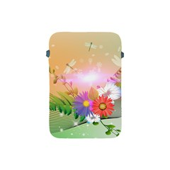 Wonderful Colorful Flowers With Dragonflies Apple Ipad Mini Protective Soft Cases by FantasyWorld7
