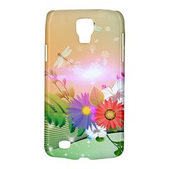 Wonderful Colorful Flowers With Dragonflies Galaxy S4 Active by FantasyWorld7