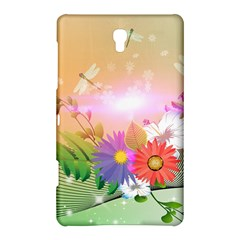 Wonderful Colorful Flowers With Dragonflies Samsung Galaxy Tab S (8 4 ) Hardshell Case  by FantasyWorld7