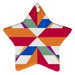 Shapes In Triangles Ornament (star) by LalyLauraFLM