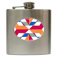 Shapes In Triangles Hip Flask (6 Oz) by LalyLauraFLM