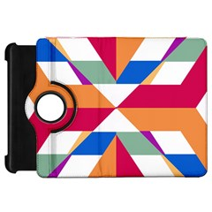 Shapes In Triangles Kindle Fire Hd Flip 360 Case by LalyLauraFLM