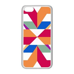 Shapes In Triangles Apple Iphone 5c Seamless Case (white) by LalyLauraFLM